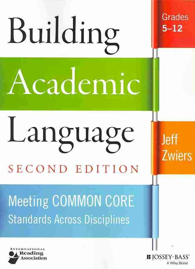 Building Academic Language By Zwiers, Jeff